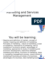 Marketing and Services Management