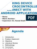 TRACKING DEVICE  USING MICROCONTROLLER  CONNECT WITH  ANDROID APPLICATION
