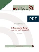 Urban Sound Design
