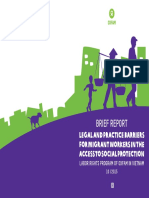 Report in Legal & Practice Barriers For Migrant Workers in the access to Social Protection