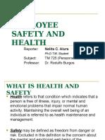 Nelita Aluraemployee Safety and Health