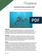 Achievement Report September 2015