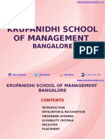 Krupanidhi School of Management Bangalore|MBA|PGDM