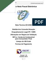 NT2015.002 Nota Fiscal Eletrônica (NF-e)