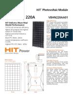 HIT Power 220A Datasheet