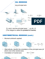 Unsymmetrical Bending Shear Stress Distribution