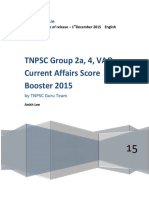 TNPSC Group 2a, VAO, Group 4 2016 Current Affairs Score Booster - By Www.tnpsCGURU.in (1)