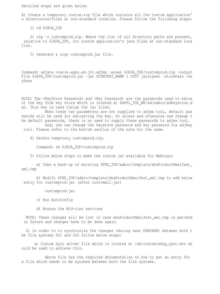 Deployment Steps for R12 2 | Zip (File Format) | Computer File