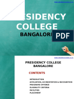 Presidency College Bangalore|MBA|Direct Admission