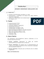 TRANSFORMADOR MONOFÁSICO REGULACIÓN CON CARGA R, L Y C.
