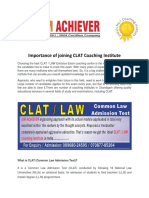 Importance of joining CLAT Coaching Institute