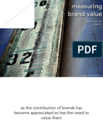 Measuring Brand Value | Patrick Collings