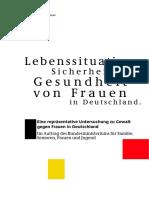 Lebenssituation, Sicherheit Und Gesundheit Von Frauen in Deutschland 1