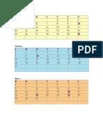Calendario 2016 República de Facta de Galán