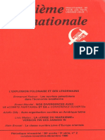 Revue Quatrième Internationale - octubre 1980