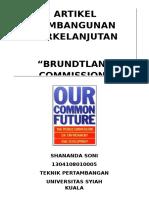 Brundtland Commission(Wced)