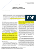 Critical Evaluation of Determining Swelling