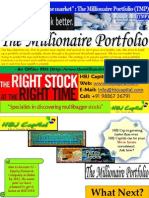 HBJ Capital's - The Millionaire Portfolio (TMP) Update - Latest Sample Copy