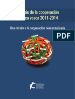 Análisis de la cooperación pública vasca 2011-2014