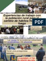 Experiencias de trabajo con la población rural para el cambio de hábitos frente al fuego
