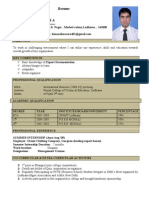 Export House Resume