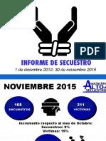 Alto al Secuestro - Noviembre de 2015
