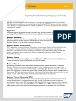 SAP Elevator Glossary