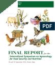 Agroecology Symposium FAO 2014