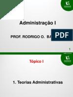 08-04-15 - Damasio - Adm Geral e Publica - Aulas 1 a 3 - Prof Rodrigo Barbati1
