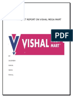 report on vishal mega mart