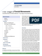 Four Stages of Social Movements