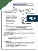 Portable Grinder Operating Procedures