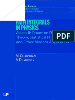 Path Integrals in Physics Vol II