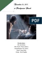 Christmas Eve 2015 Bulletin