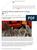 America's Labour Market is Not Working - FT