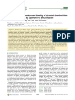 Effect of Salts on Formation and Stability of Vitamin E‑Enriched