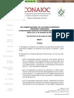 Conclusiones de la 1ra Cumbre Nacional de los Pueblos Indígenas Originario Campesinos
