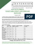South Florida Vegetable Pest and Disease Hotline for December 22, 2015