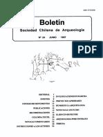 Boletín de la Sociedad Chilena de Arqueologia