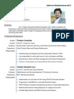 kathirvel radhakrishnan - resume