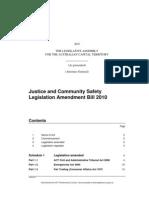 Justice and Community Safety Legislation Amendment Bill 2010