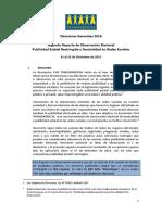 Reporte de Observación Electoral sobre Publicidad Estatal Restringida en Periodo Electoral