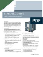 Siprotec 7sj85 v6 Profile