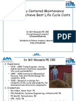RCM Applied to Achieve Best Life Cycle