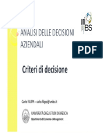 Seconda Lezione di Analisi delle Decisioni Aziendali