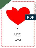 Flashcards Números (San Valentín)