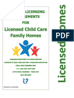 Minimum Licensing Requirements for Licensed Child Care Family Homes