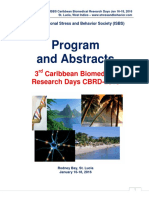 Program and Conference Abstract Book - 3rd Caribbean Biomedical Research Days CBRD-2016, Jan 16-18, 2016, St. Lucia