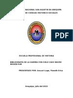 Bibliografia de La Guerra Con Chile