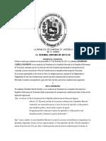 TSJ aprueba constitucionalidad de sesiones extraordinarias de la AN